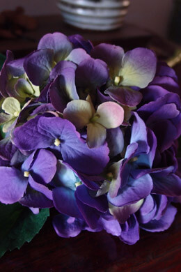 Hydrangea Flower Stem Water-Resistant Stem Purple Green