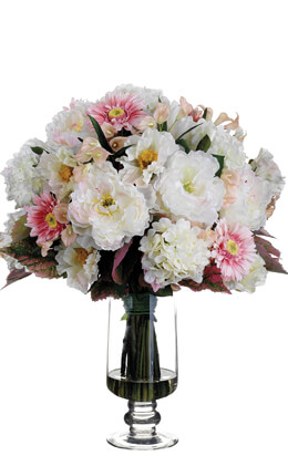 "25"" Large Silk Flower Arrangement SHIPS FREE"