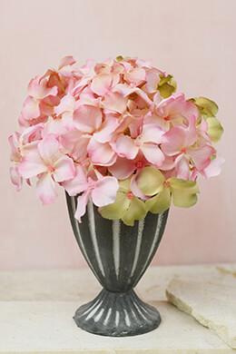 """8"""" Pink Silk Hydrangea Arrangement"""