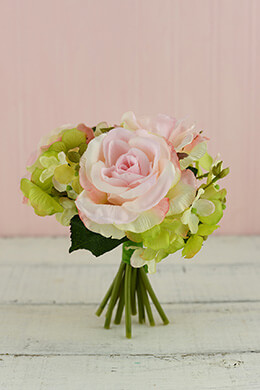Hydrangea and Rose Bouquet 7in