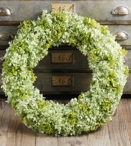 "Hydrangea Wreaths Preserved Green 19"""