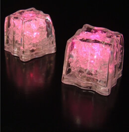 LED Ice Cubes Pink | Pack of 8