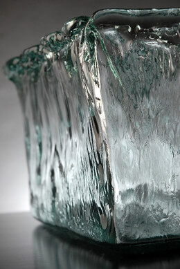 Ice Glass Vase 13in