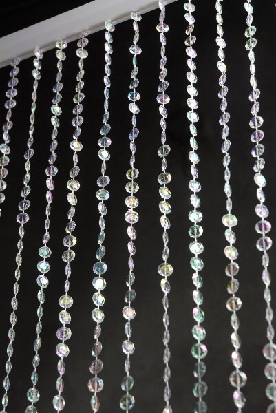 Iridescent Crystal Garland Curtain 12ft x 35in