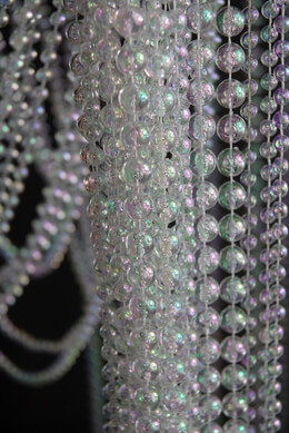 "Iridescent Crystal Curtains 35"" x 6' Long with 35 Strands"