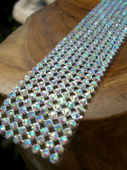 Rhinestone Ribbon Iridescent 1 1/8in wide