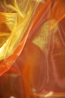 "Iridescent Sheer Fabric Yellow & Orange (28"" width 3 yards)"