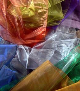 Iridescent Tulle, Organza  & Metallic Netting