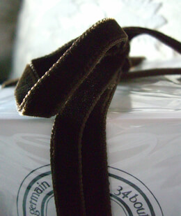 "Italian Double Faced Velvet Ribbon Chocolate Brown 3/8"" width 11.5 feet"