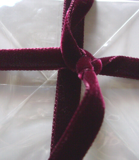 Velvet Ribbon Burgundy 11.5ft