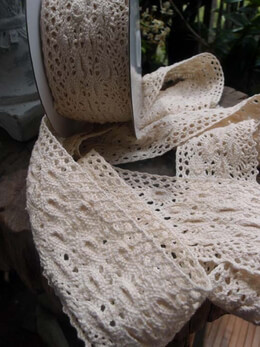Crocheted Cotton Lace 2.5in x 10 yds | Ivory