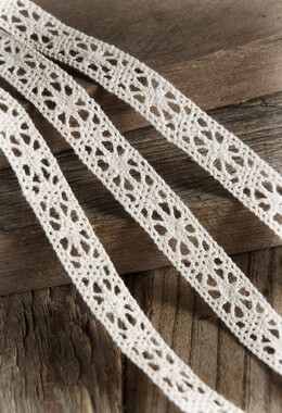 Ivory Cotton Lace Ribbon 1/2 inch x  10 yards