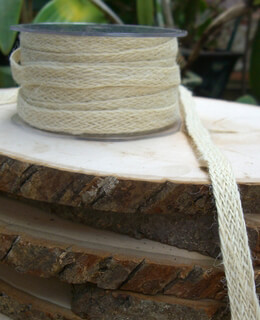 Braided Ivory Jute Ribbon 1/2in x 20 yards