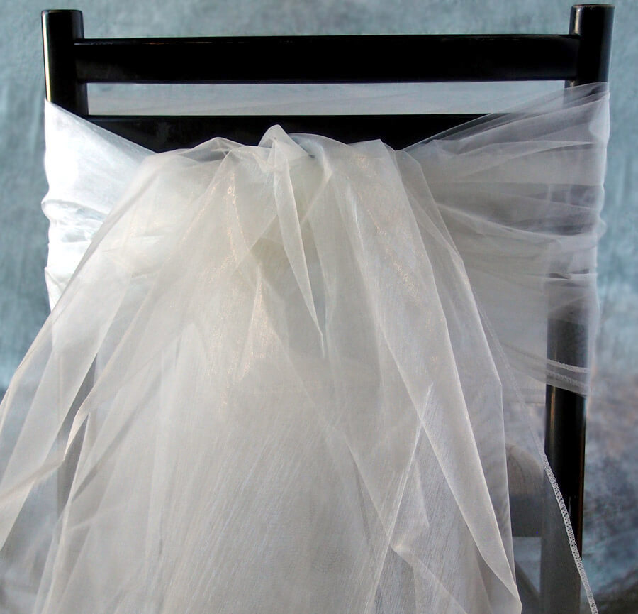"Organza Fabric Ivory 54"" wide x 9 feet"