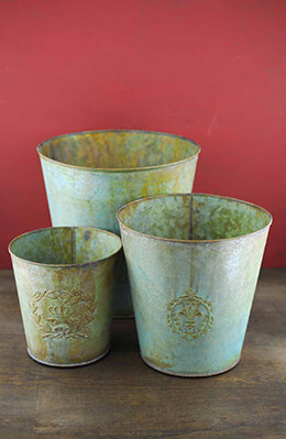 Jessie Metal Buckets (Set of 3)