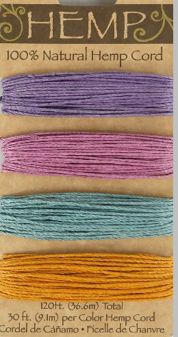 Hemp Cord Jewel Tone (Pack of 3)