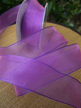 Organza Ribbon Purple 1.5in x 9 yds