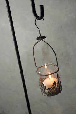 Juliet Hanging Votive Candle Holder & Vase 12in