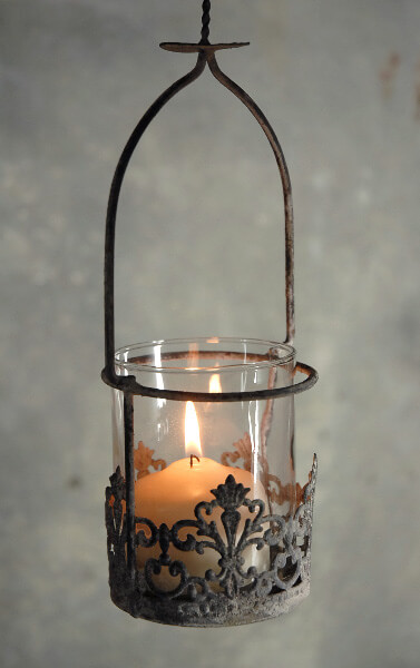 Hanging Votive Candle Holder 12in