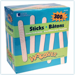 Jumbo Popsicle Sticks Pack of 300