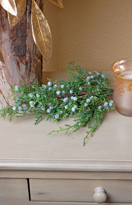 Artificial Juniper Spray 18in