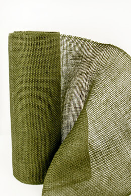 "Moss Green Jute Roll 14"" wide x 10 yards"