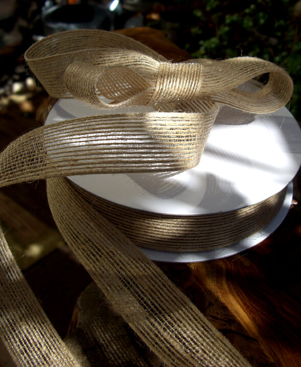 Burlap Ribbon 1in