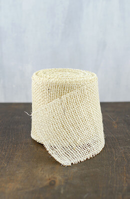 Jute Ribbon Ivory 4in x 10yds