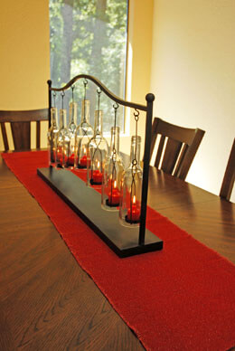 Jute Table Runner Glitter Red 15