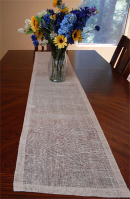 Jute Table Runner Ivory 14x72in