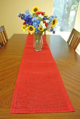 Jute Table Runner Red 14x72in