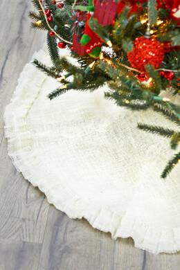 Burlap Tree Skirt Ivory 46in