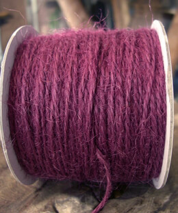 Jute Twine Cording Sangria Purple Red 100 yds