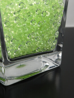 Lime Green Rain Drop Vase Gems 2 cups