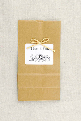 Kraft Favor Bags Sunflowers (Set of 10)