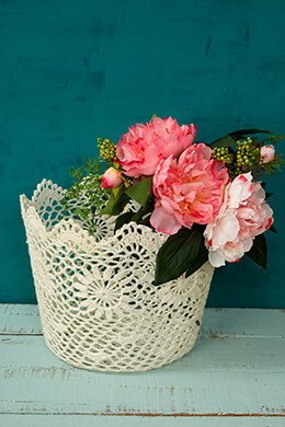 Lace Basket 10x8in