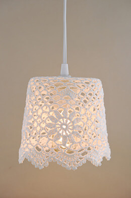 Lace Lampshade White 5.75in