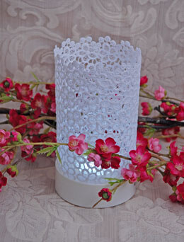 Lace Votive Cool White