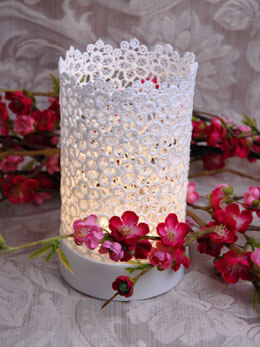 Lace Votive Warm White