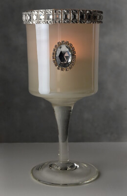 Glass Candle Holder Diamond
