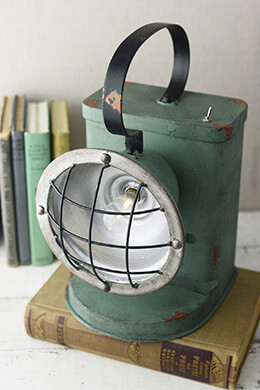 Battery Operated LED Railroad Spot Lantern, Rustic, Industrial