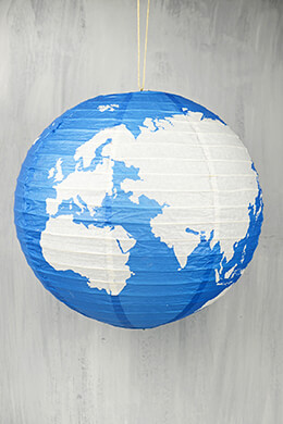 "16"" Earth Globe Paper Lanterns"