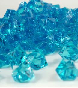 """Large 1"""" Turquoise Blue Acrylic Ice 46 ounces"""