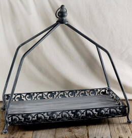 Decorative Iron Tray 18in