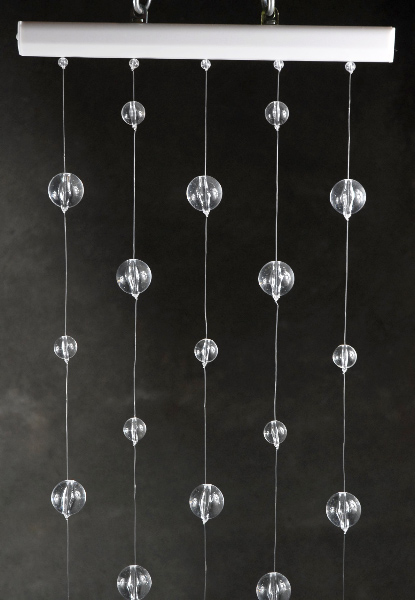 Crystal Ball Globe Hanging Curtains 1 ' x 6' Long