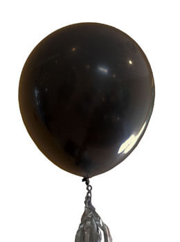 Large Black Balloons 36in (Set of 2)