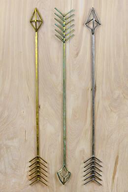 3 Large Metal Arrow Wall Decor