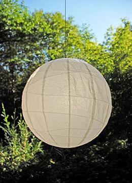 Large Paper Lantern Round Beige 36in