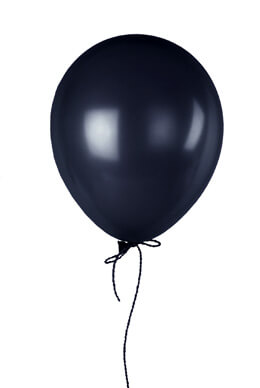 "72 Black 17"" Balloons, Pearl Finish"