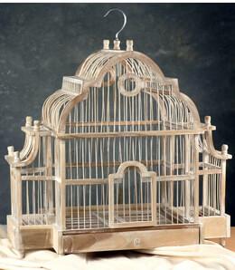 """Large Teak Bird Cage 21"""" x 20"""""""
